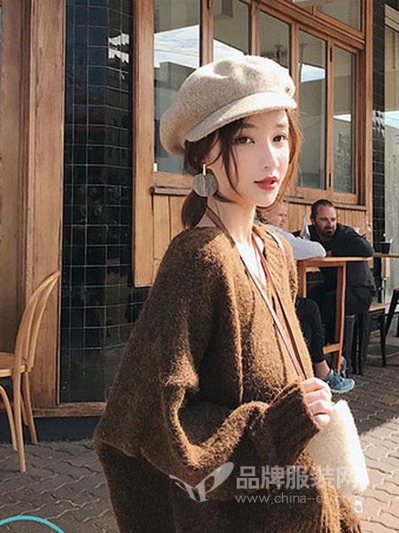 佰莉衣橱信誉最好的彩票网2018秋冬长袖针织衫休闲宽松简约上衣