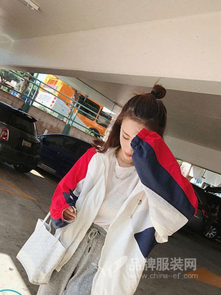 佰莉衣橱信誉最好的彩票网2018秋冬连帽卫衣宽松运动开衫外套