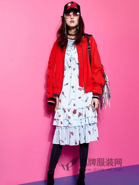 米可芭娜女装2018秋冬短外套韩版拉链宽松棒球服