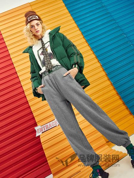 MATERIAL GIRL女装2018秋冬气质修身显瘦百搭纯色休闲裤铅笔小脚裤