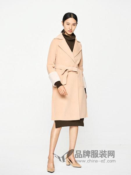 EICHITOO女装2018秋冬新款长款过膝双面呢毛呢外套