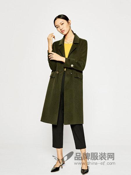 EICHITOO女装2018秋冬新品毛呢外套修身显瘦中长款双面羊毛大衣