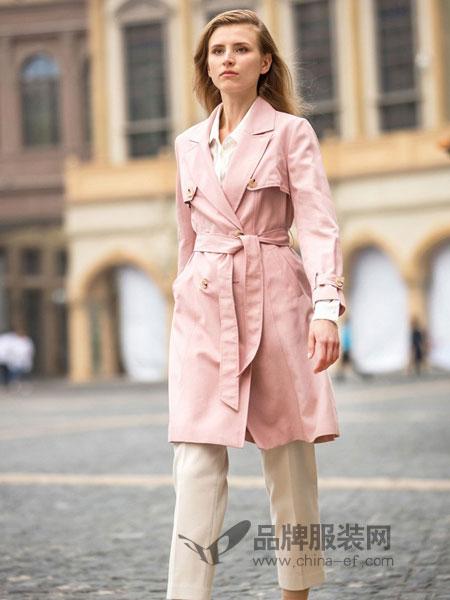 阿菁娜女装2018秋冬新款显瘦修身小个子显瘦中长款修身外套