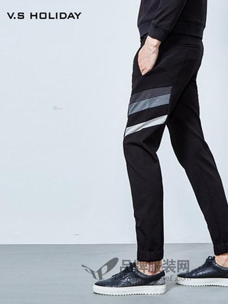 尚品男装男装2018秋冬韩版潮流修身长裤小脚裤运动束脚裤
