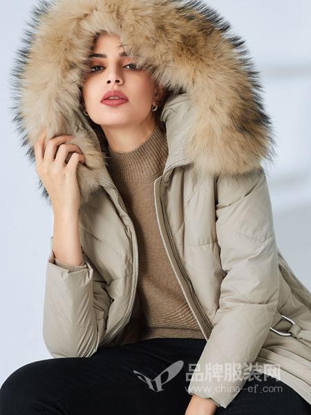 SN女装2018秋冬新款韩版中长款羽绒棉袄加厚外套