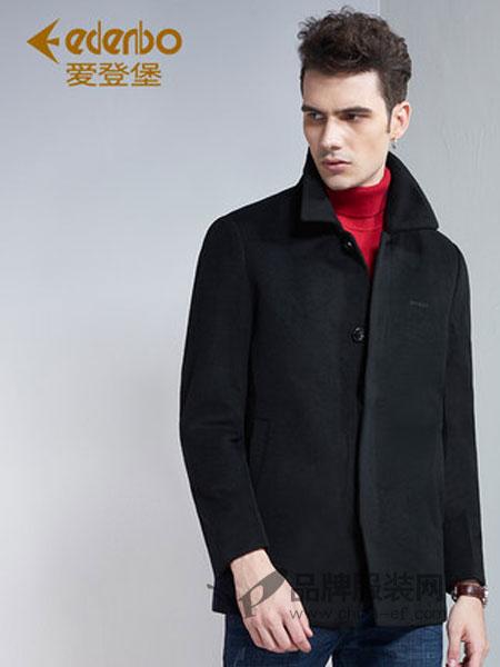爱登堡男装男装2018秋冬时尚修身羊毛外套毛呢大衣