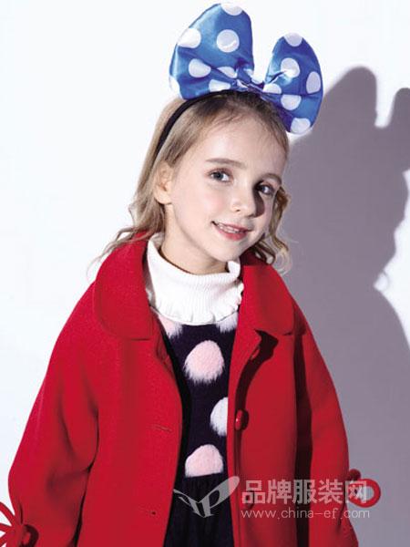 小猪班纳童装2018冬季新款女童韩版呢大衣儿童时尚外套潮