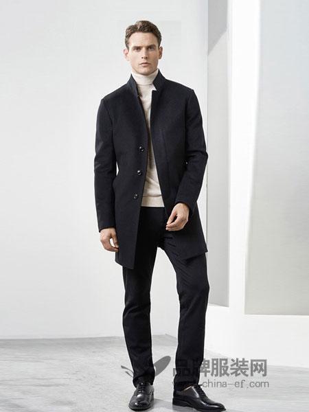威克多男装2018秋冬保暖上衣中长款休闲纯色时尚男士外套