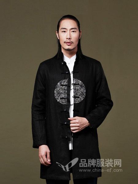 来龙男装2018秋冬复古中国风男装中年中式亚麻唐装外套改良