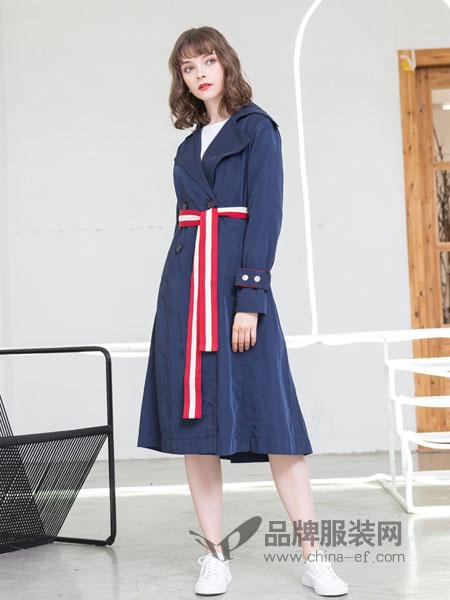 女神服饰女装2018秋冬新款双面呢大衣外套