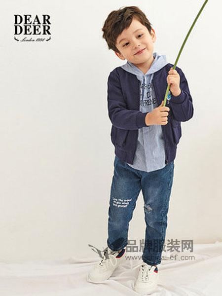 迪迪鹿童装2019春季创意字母印花男小童牛仔裤