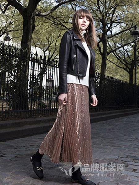 EVONA女装2018秋冬新款纯色百搭显瘦外套