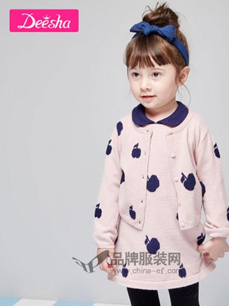 笛莎童装2019春季背心连衣裙两件套