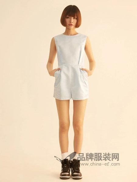 夏岱女装收腰显瘦无袖搭配连体裤短