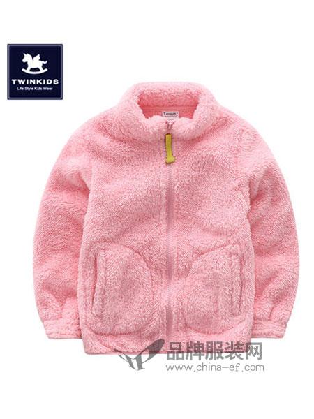 TWINKIDS童装2018秋冬加绒加厚韩版时尚外套