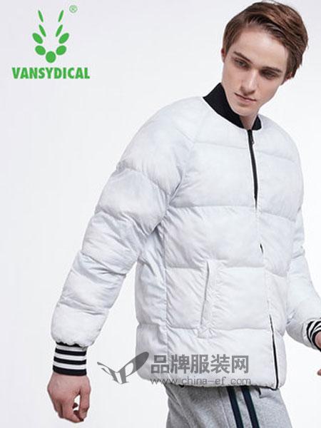 Vansydical范斯蒂克休闲2018秋冬防风保暖棉服立领撞色两面穿棉袄