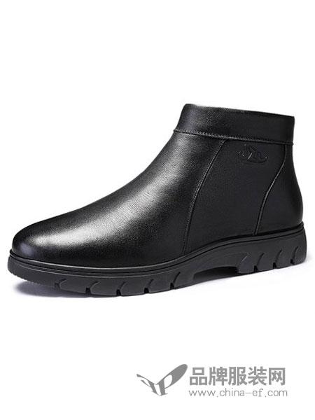 健足乐鞋帽/领带2018秋冬新款防滑保暖舒适爸爸皮靴