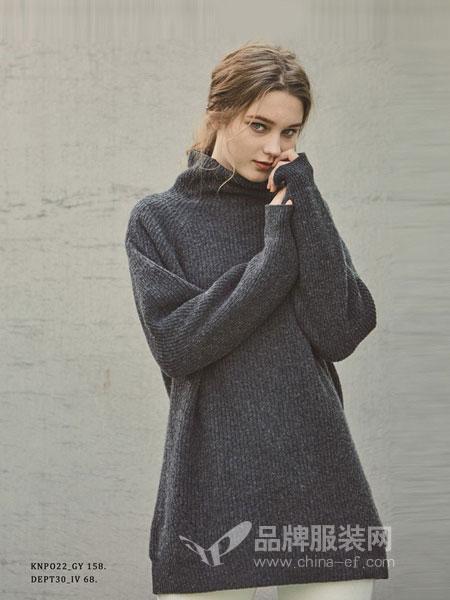 PINBLACK女装2018秋冬高领毛衣韩版修身加厚打底毛衣弹力打底衫