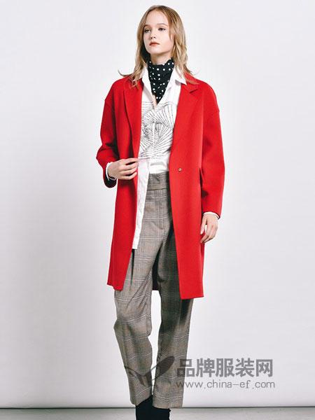 主格女装2018秋冬新款西装领修身显瘦韩版外套