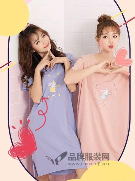 妮可雅韩版甜美学生连衣裙家居服女可外穿