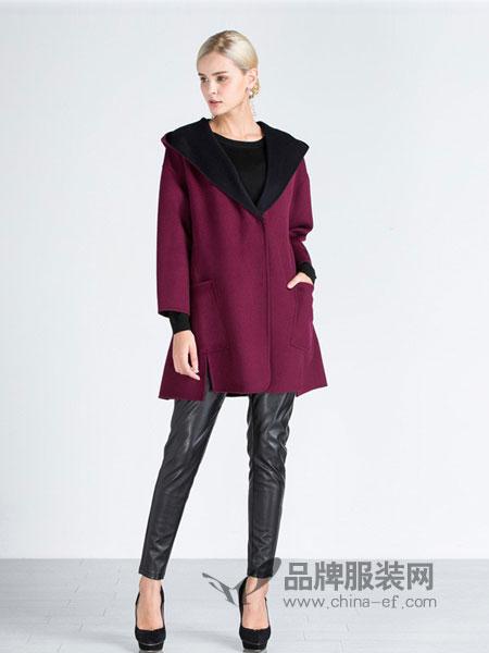 施华布朗女装2018秋冬毛衣外套纯色保暖长款针织开衫