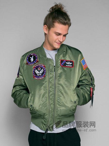 花花公子男装飞行员夹克大码外套