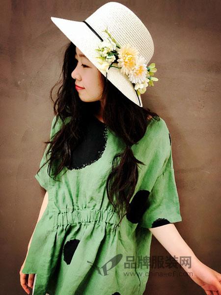 植觉女装2019春夏中长款印花五分袖文艺桑蚕丝显瘦雪纺裙