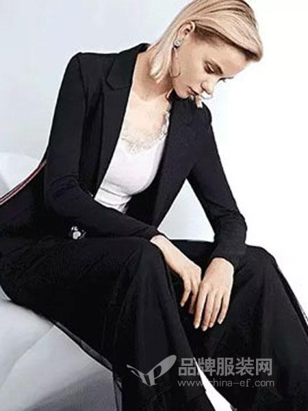 卡尼欧女装2019春季小西装长袖黑色修身显瘦