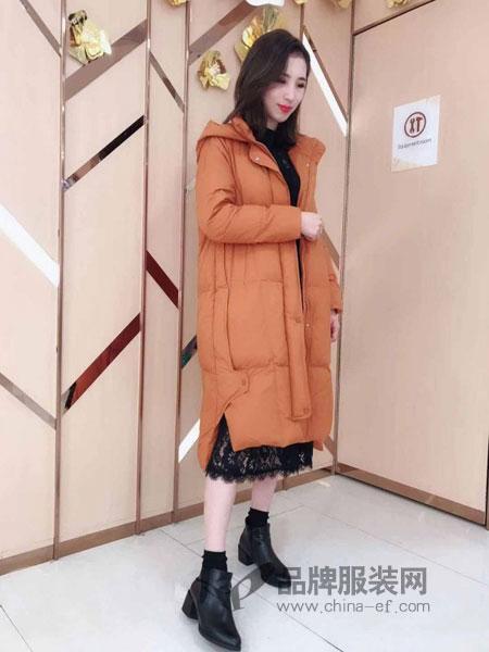 奥依岛女装2018冬季洋气棉袄加厚外套潮