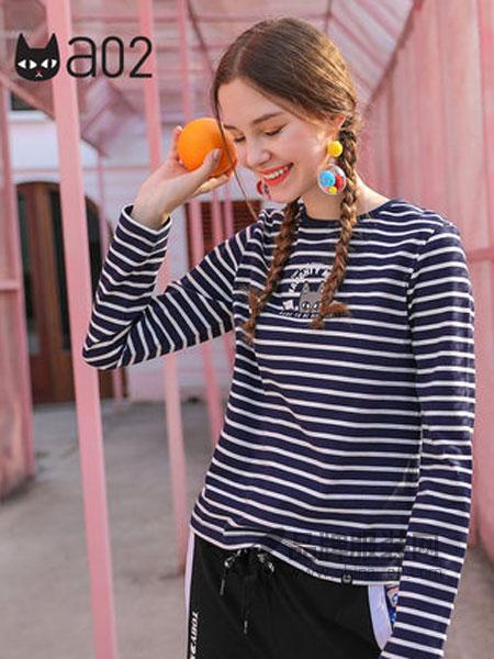 A02女装2019春季宽松打底衫长袖T恤