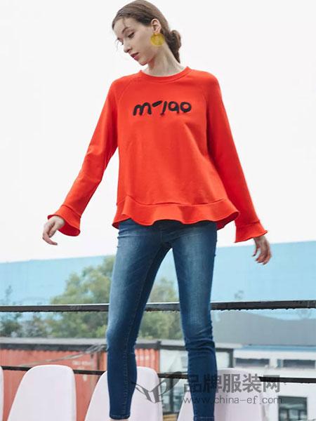 水淼SHUIMIAO女装2019春季字母印花拼接圆领长袖笑脸卫衣