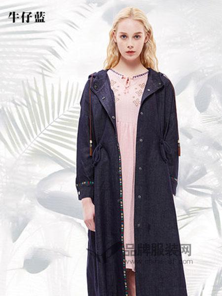 菀草壹女装品牌2019春季收腰系带外套女韩版宽松风衣