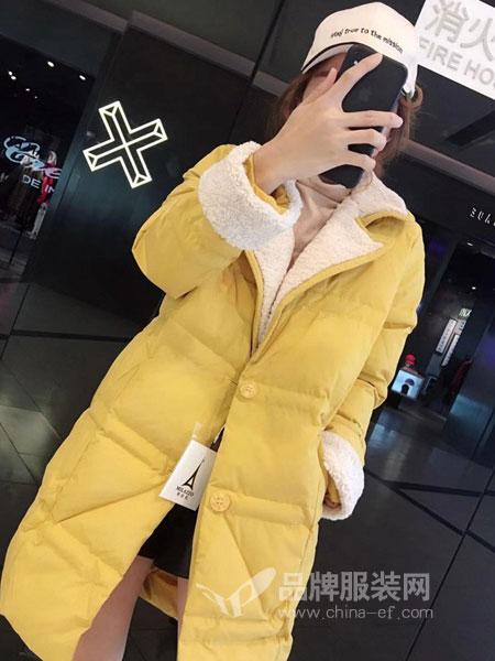 琳艾依女装2018秋冬时尚百搭连帽保暖棉衣潮