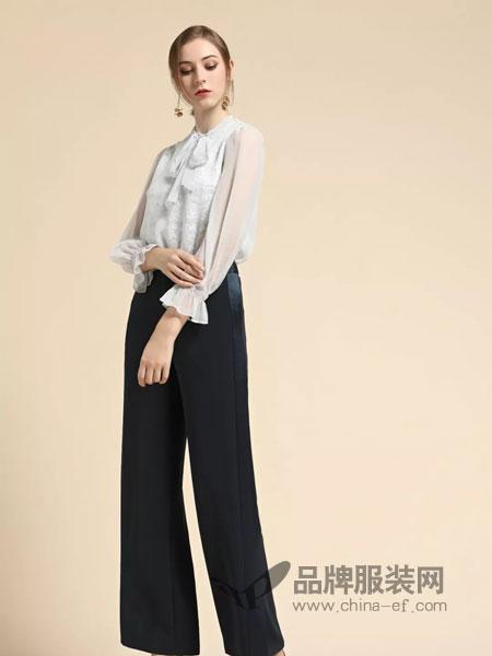 卡佩诺 - KAIPEINUO女装2019春季条纹衬衫休闲简约潮长袖衬衫
