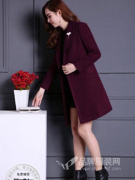 芝麻E柜女装2018冬季新品新款修身显瘦气质西装领外套