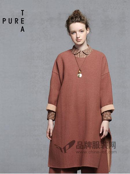 EINyan女装品牌2019春季中长款复古简约风裙