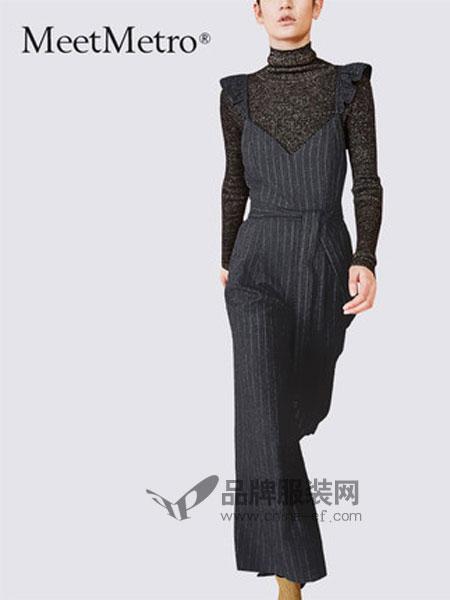 玛依尔女装品牌2019春季时尚休闲裤宽松阔腿裤潮