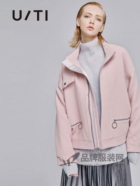 U/TI尤缇女装品牌2018秋冬百搭立领宽松长袖小香风短外套女