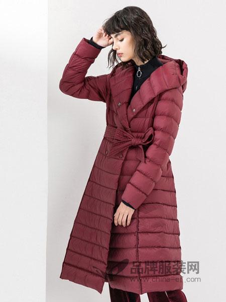 真我永恒女装品牌2018秋冬新款面包服过膝棉袄韩版大码羽绒棉衣