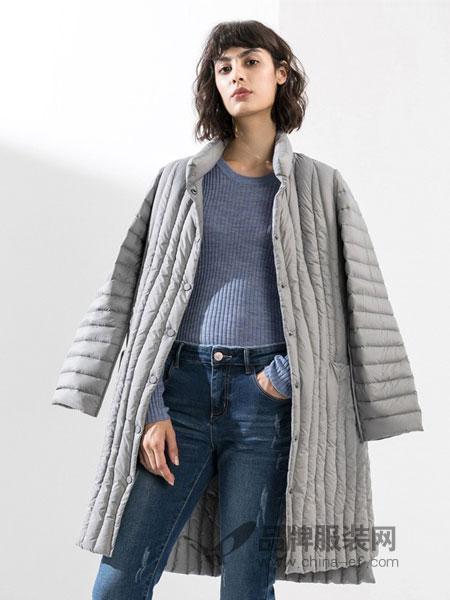 真我永恒女装品牌2018秋冬中长款加厚面包服棉衣