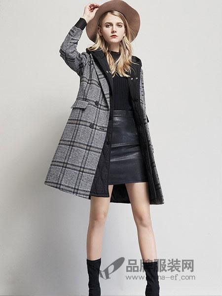 艾米女装品牌2018秋冬新款羊毛呢外套大衣