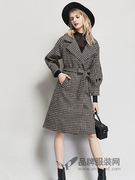 艾米女装品牌2018秋冬洋气毛呢外套