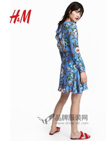 H&M女装品牌2019春季 印花连衣裙