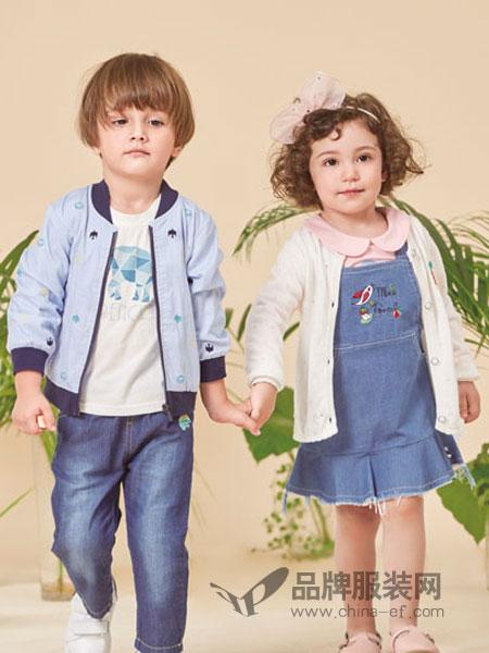 pencilmini迷你铅笔童装品牌2019春夏女童裙子中小童儿童披肩牛仔连衣裙