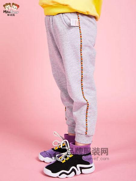 米拉熊童装品牌2019春季针织裤儿童裤子