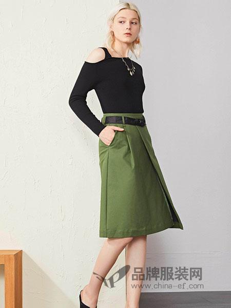 恩瑞妮女装品牌2019春夏新款时尚露肩显瘦百搭上衣