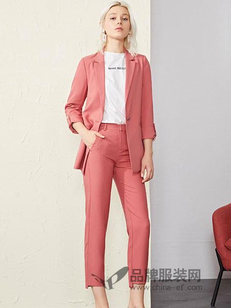 恩瑞妮女装品牌2019春夏新款气质梅红色百搭显瘦外套