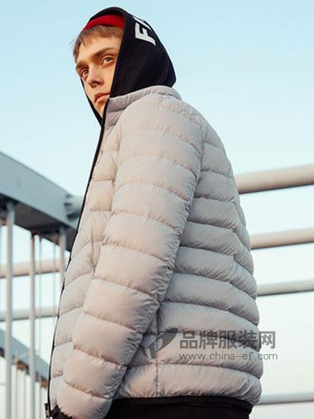 美特斯邦威休闲品牌2018秋冬轻薄款舒适时尚青少年立领外套