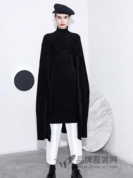 BAN XIAOXUE班晓雪女装品牌2018秋冬长袖阔型针织套头卫衣
