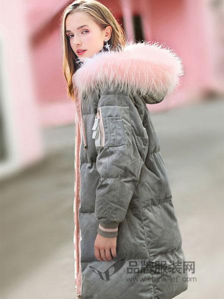 武汉爱弗瑞服饰有限公司女装品牌2018秋冬韩版过膝加厚长款羽绒服外套潮